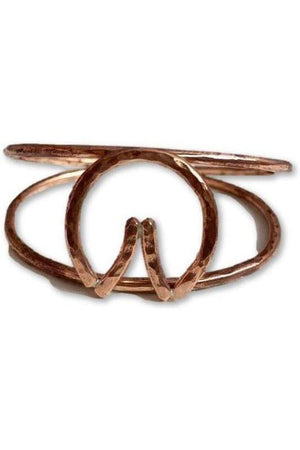 Barefoot Horseshoe Double Cuff Bracelet-Jewelry-JenCervelli-Solid Piece-COPPER-Three Wild Horses