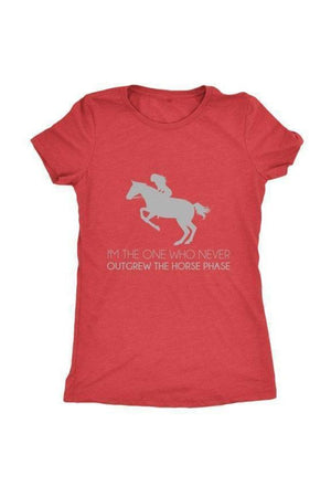 I Never Outgrew the Horse Phase - Tops-Tops-teelaunch-Ladies Triblend-Red-S-Three Wild Horses