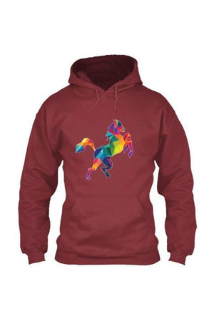 Horsing Around - Long Sleeve-Long Sleeve-Teescape-HOODIE-Cardinal Red-S-Three Wild Horses