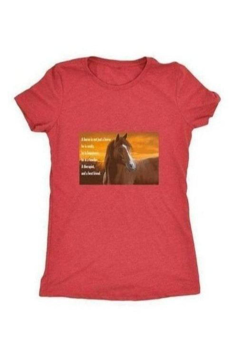 My Horse, My Friend - Tops-Tops-teelaunch-Ladies Triblend-Red-S-Three Wild Horses
