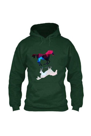 Foaling Around - Long Sleeve-Long Sleeve-Teescape-HOODIE-Forest Green-S-Three Wild Horses
