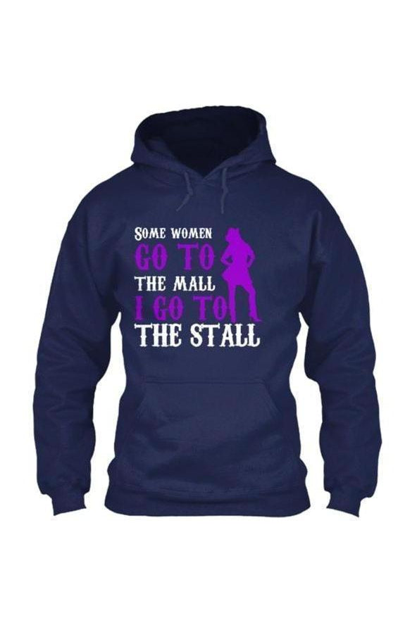 I Go To The Stall - Long Sleeve-Long Sleeve-Teescape-HOODIE-Navy-S-Three Wild Horses
