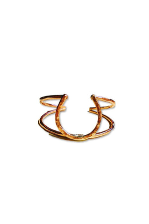 Double Cuff Horseshoe Bracelet-Jewelry-JenCervelli-COPPER-Three Wild Horses