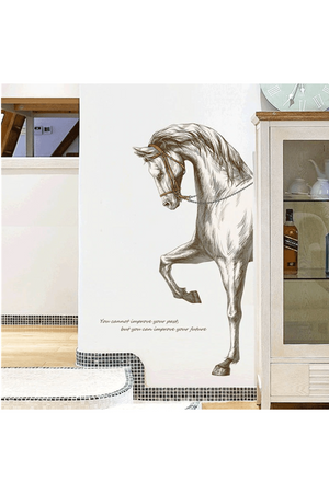 White Smoke Horse Head Wall Sticker