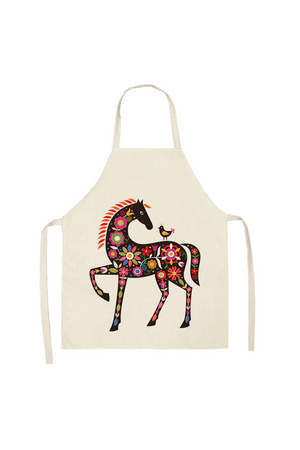 Antique White Horse Style Aprons