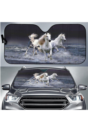 Dark Gray Horses Sun Shade