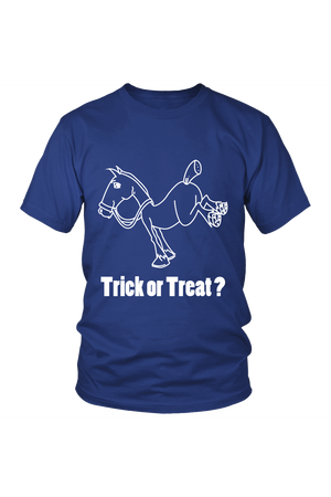 Trick Or Treat? - Tops-Tops-teelaunch-Unisex Tee-Royal Blue-S-Three Wild Horses