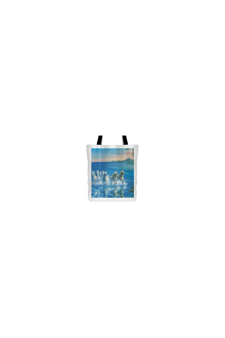 Waves and Horses - Tote Bag