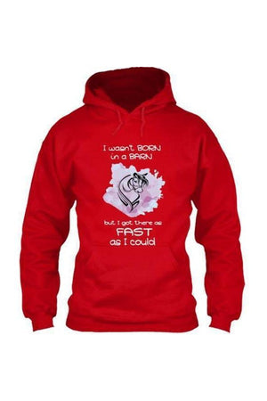 I Got There as Fast as I Could - Long Sleeve-Long Sleeve-Teescape-HOODIE-Red-S-Three Wild Horses