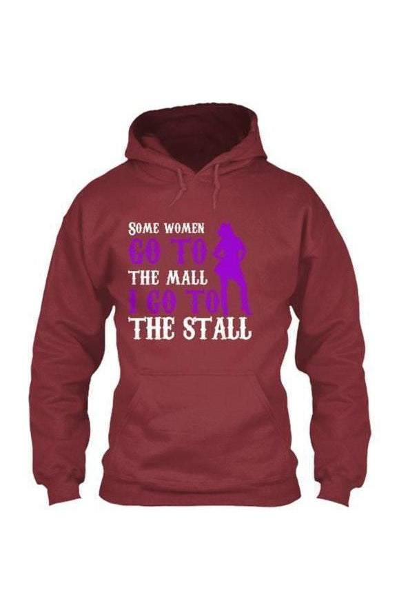 I Go To The Stall - Long Sleeve-Long Sleeve-Teescape-HOODIE-Red-S-Three Wild Horses