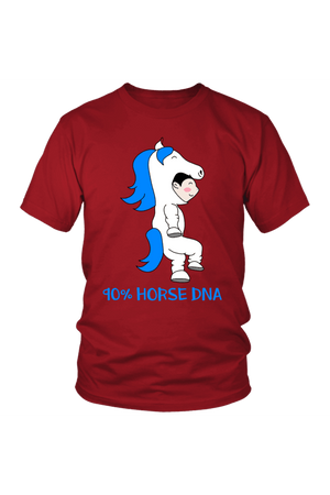 90% Horse DNA - Tops-Tops-teelaunch-Unisex Tee-Red-S-Three Wild Horses