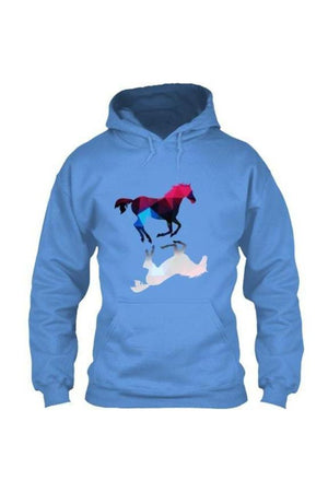 Foaling Around - Long Sleeve-Long Sleeve-Teescape-HOODIE-Indigo Blue-S-Three Wild Horses