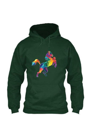 Horsing Around - Long Sleeve-Long Sleeve-Teescape-HOODIE-Forest Green-S-Three Wild Horses