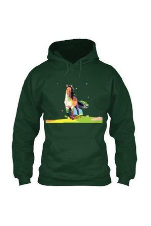 Running Around - Long Sleeve-Long Sleeve-Teescape-HOODIE-Forest Green-S-Three Wild Horses