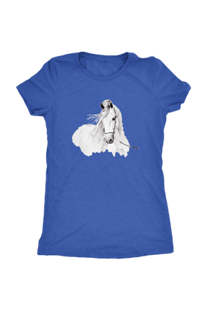 Day Dreaming - Tops-Tops-teelaunch-Ladies Triblend-Royal Blue-S-Three Wild Horses