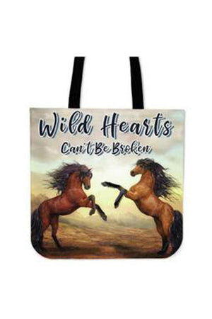 Gray Wild Hearts Can't Be Broken - Tote Bag