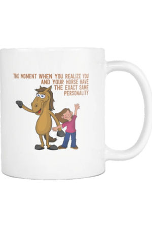 The Cheerful Horse - Mug-Drinkware-teelaunch-COFFEE MUG 11 OZ-Three Wild Horses
