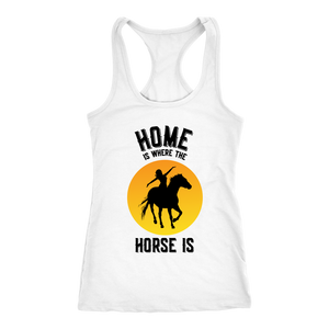 Goldenrod Home is Where The Horse Is - T-Shirt