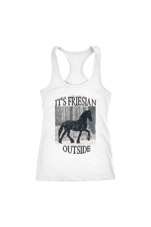 White Smoke It's Friesian Outside T-Shirt