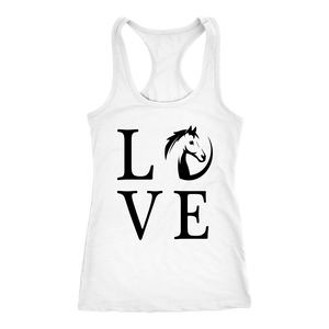 Black Horse Love T-Shirt in White