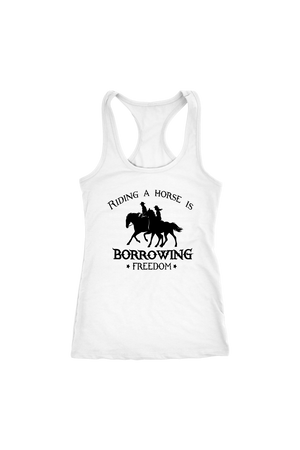 Black Riding A Horse - Borrowing Freedom T-Shirt
