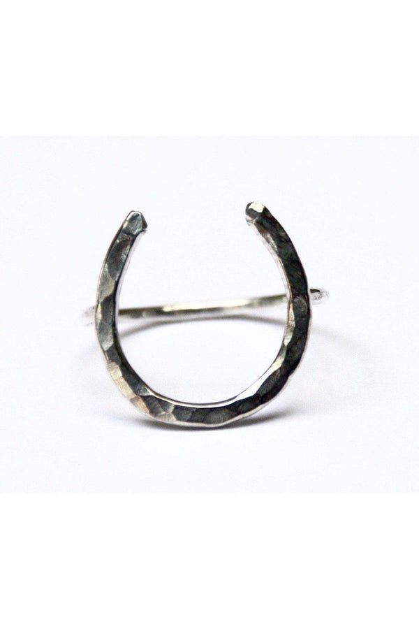 Personalized Thin Horseshoe Ring
