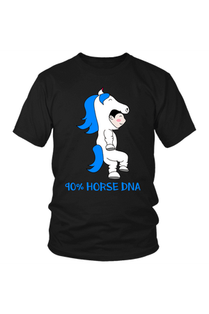 90% Horse DNA - Tops-Tops-teelaunch-Unisex Tee-Black-S-Three Wild Horses