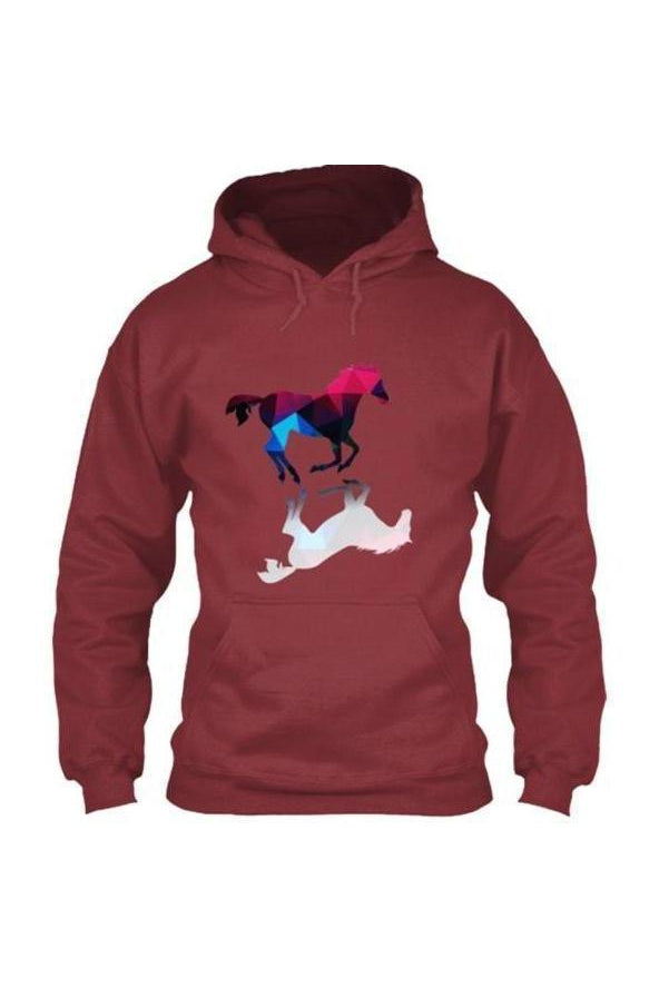 Foaling Around - Hoodie in Red