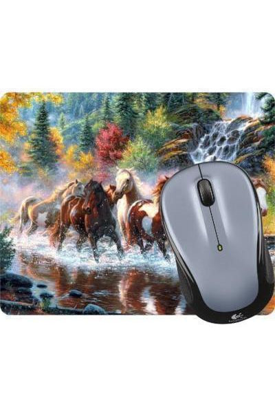 Forest Wild Horses - Mouse Pad-Mousepads-teelaunch-Mouse pad-Three Wild Horses