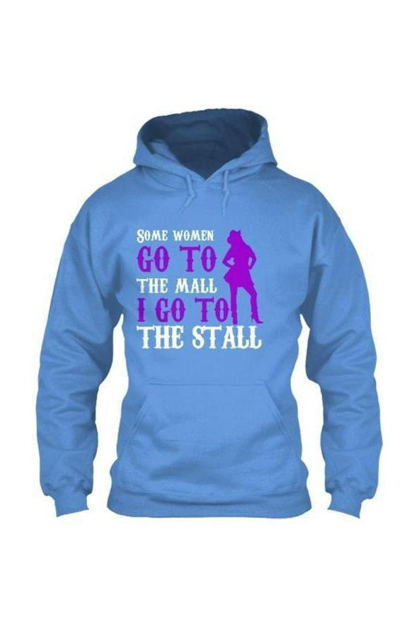 I Go To The Stall - Long Sleeve-Long Sleeve-Teescape-HOODIE-Royal Blue-S-Three Wild Horses