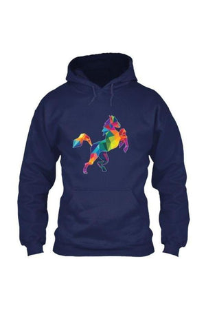 Horsing Around - Long Sleeve-Long Sleeve-Teescape-HOODIE-Navy-S-Three Wild Horses