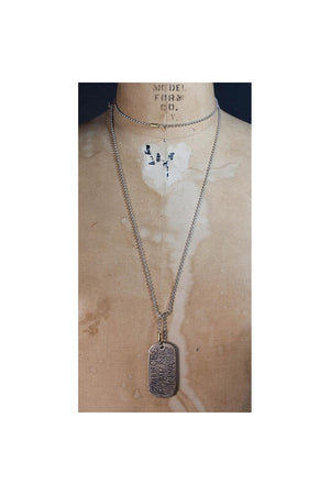 Rosy Brown Fortune Favors The Bold Dog Tag Necklace by SHANNON KOSZYK