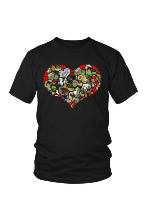 Heart Shape Horses - Tops-Tops-teelaunch-Unisex Tee-Black-S-Three Wild Horses