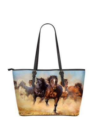 Horse Water Resistant Tote Bag-Tote Bags-Pillow Profits-4-Three Wild Horses