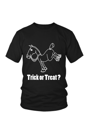 Trick Or Treat? - Tops-Tops-teelaunch-Unisex Tee-Black-S-Three Wild Horses
