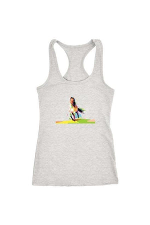 Running Around - Tops-Tops-teelaunch-Racerback Tank-Grey-S-Three Wild Horses