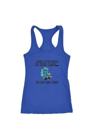 She Also Needs a Horse - Tops-Tops-teelaunch-Racerback Tank-Royal Blue-S-Three Wild Horses