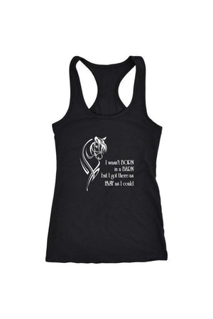 I Wasn't Born in a Barn - Tops-Tops-teelaunch-Racerback Tank-Black-S-Three Wild Horses