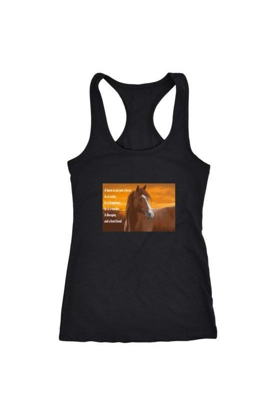 My Horse, My Friend - Tops-Tops-teelaunch-Racerback Tank-Black-S-Three Wild Horses