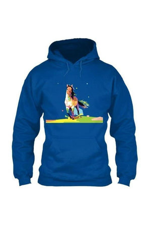 Running Around - Long Sleeve-Long Sleeve-Teescape-HOODIE-Royal Blue-S-Three Wild Horses