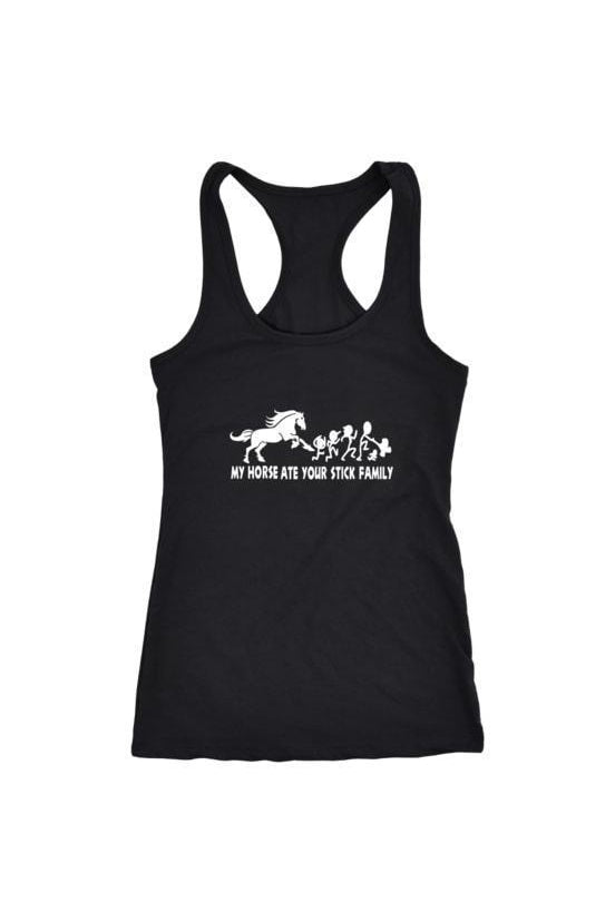 My Horse Ate Your Stick Family - Tank Tops in Black