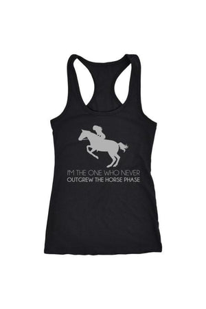 I Never Outgrew the Horse Phase - Tops-Tops-teelaunch-Racerback Tank-Black-S-Three Wild Horses