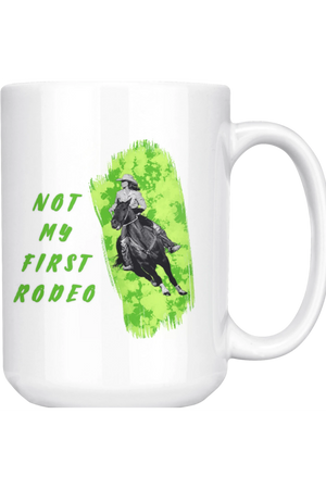 Not My First Rodeo Mug-Drinkware-teelaunch-COFFEE MUG 15 OZ-Three Wild Horses