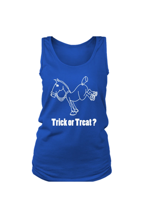 Trick Or Treat? - Tank Tops-Tops-teelaunch-Royal Blue-S-Three Wild Horses