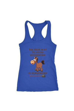 The Best Way To Avoid Housework - Tops-Tops-teelaunch-Racerback Tank-Blue-S-Three Wild Horses