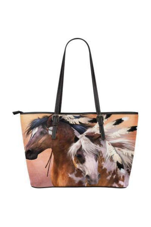 Horse Water Resistant Tote Bag-Tote Bags-Pillow Profits-6-Three Wild Horses