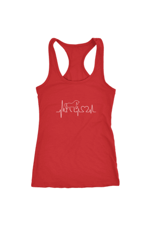 Horsebeat - Tops-Tops-teelaunch-Racerback Tank-Red-S-Three Wild Horses