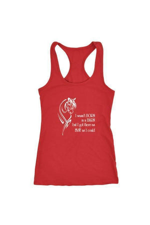 I Wasn't Born in a Barn - Tops-Tops-teelaunch-Racerback Tank-Red-S-Three Wild Horses