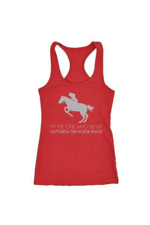 I Never Outgrew the Horse Phase - Tops-Tops-teelaunch-Racerback Tank-Red-S-Three Wild Horses