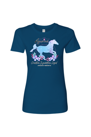 Aquarius Horse Shirt for Women-T-shirt-teelaunch-Next Level Womens Shirt-Cool Blue-S-Three Wild Horses